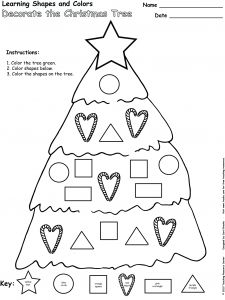 Decorate the Christmas Tree, Learning Shapes and Colors - Pinned by @PediaStaff – Please visit http://ht.ly/63sNt for all (hundreds of) our pediatric therapy pins
