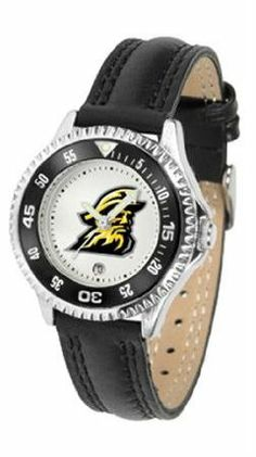 Appalachian State Mountaineers ASU NCAA Womens Leather Wrist Watch by SunTime. $72.95. Showcase the hottest design in watches today! A functional rotating bezel is color-coordinated to compliment your favorite team logo. A durable long-lasting combination nylon/leather strap together with a date calendar round out this best-selling timepiece.