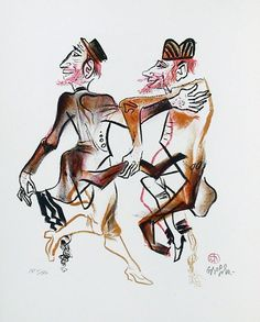 Untitled lithograph, c1960, William Gropper