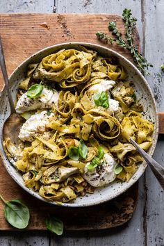 Roasted Lemon Artichoke and Browned Butter Pasta | halfbakedharvest.com #pasta #burrata #easyrecipes #Italian #spring #summer