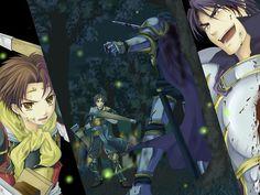 Suikoden 2 - The final battle between Riou and Luca Blight. V Games, Video Games, Suikoden, Samurai Warrior, Final Fantasy, Anime Guys, Fan Art, Deviantart, Manga