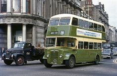 9 to Market Street pulling away from traffic lights in Aberdeen city centre on 31 August, 1971.