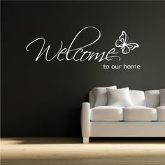 #HomeandGarden WELCOME TO OUR HOME WALL ART WALL