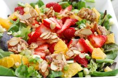 Orange Dressing with Orange Strawberry Salad