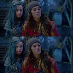 Jay and Evie I love that they all stuck up for Ben ! Especially Jay Disney Channel Descendants, Disney Descendants 3, Disney Original Movies, Best Disney Movies, Disney Love, Disney Xd, Disney Stuff, Dianne Doan, Sophia Carson