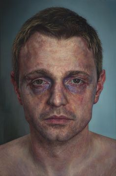 This morning we take a look at the work of Ireland-born artist Ian Cumberland. He studied fine art at University of Ulster and has since won several Portrait Awards at the National Portrait Gallery and Royal Ulster Academy Schizophrenia Art, Oil Portrait, Portrait Images, A Level Art, National Portrait Gallery, Exhibition, Photorealism, Realism Art, Art Sketchbook