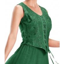 Forest Green Zoe Medieval Sleeveless Top