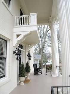 Renovated Front Porch & Columns