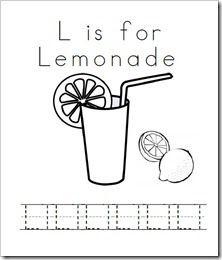 l is for lemonade preschool activities printables