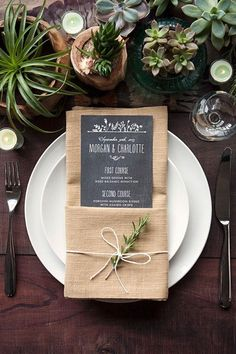 Let your guests know what they can look forward to tucking in to with these awesome wedding menus!