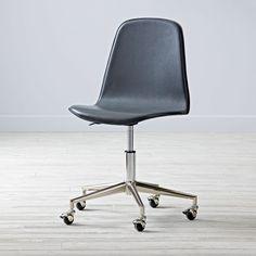 Shop Class Act Grey U0026 Silver Desk Chair. Hereu0027s A Smart Idea. Our Leather