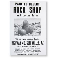ROADSIDE SIGN POSTER ROCK SHOP (€22) ❤ liked on Polyvore featuring accessories