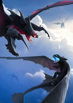 httyd dragons art & httyd dragons + httyd dragons species + httyd dragons art + httyd dragons types + httyd dragons as humans + httyd dragons night fury + httyd dragons species list + httyd dragons drawing Httyd Dragons, Cute Dragons, How To Train Dragon, How To Train Your, Dreamworks, Night Fury Dragon, Mythical Creatures Art, Dragon Sketch, Toothless Dragon