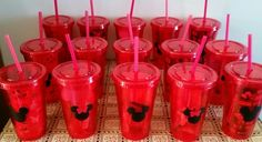 Tumblers from Dollar Tree! Great for party favors.
