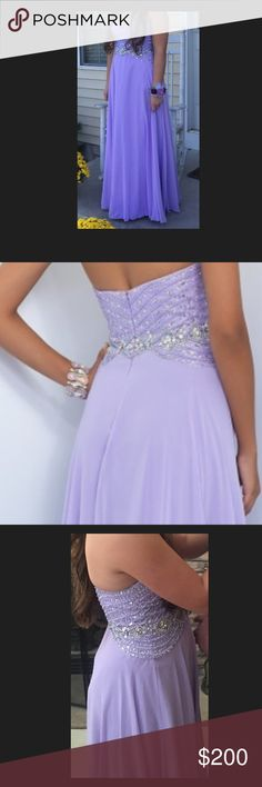 Homecoming/prom dress Worn once it's beautiful and comfortable Blush Dresses Prom