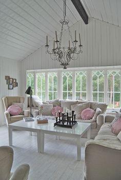 swedish windows & nice pink pillows