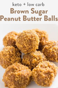 Low carb fat bomb keto peanut butter balls. An easy recipe to make in no time with stevia and monk fruit as sweeteners. Featuring brown sugar swerve as well. No almond flour needed at all, these were made to be chewy! #keto #lowcarb #fatbomb #peanutbutter #peanutbutterrecipes #lowcarbsnacks #ketodesserts Peanut Butter Bombs, Best Peanut Butter, Peanut Butter Recipes, Sugar Free Cookies, Sugar Free Desserts, Low Carb Desserts, Healthy Desserts, Chocolate Fat Bombs, Low Carb Chocolate