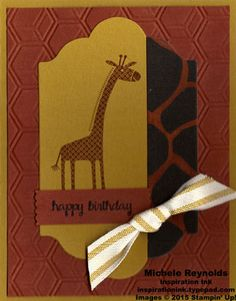 Zoo Babies Giraffe Birthday by Michelerey - Cards and Paper Crafts at Splitcoaststampers