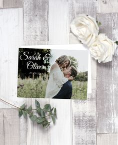 Announce your wedding in style with these personalised photo invitations.