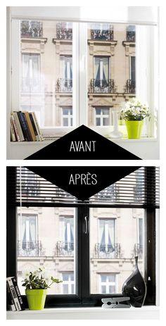 Un air new-yorkais à votre intérieur ! #dccv #relooking #peinture #pvc #fenetre #window #blanc #avantapres