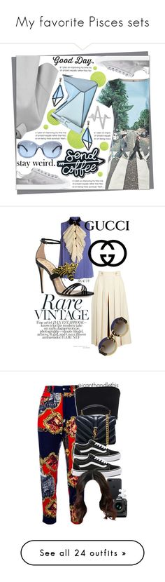 """""""My favorite Pisces sets"""" by corazondeazucar ❤ liked on Polyvore featuring Alice + Olivia, Emporio Armani, Gianvito Rossi, Chanel, Loewe, Sterling Forever, Issey Miyake, Gucci, Moschino and Clothes Effect"""