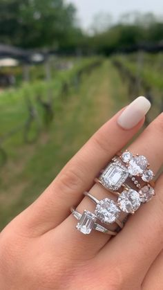 """Filter your preferences (budget, diamond shape & carat, ring setting, band metal & more), and start custom-building an engagement ring for you or your partner. Pictured styles are all available and customizable - find them under """"Engagement Ring Settings"""" at www.engagejeweler.com. #engagementring #diamondring #bridaljewelry #weddingjewelry #stackedrings #proposalplanning #engagementinspiration #weddinginspiration #whitegold #platinum #yellowgold #rosegold Design Your Engagement Ring, Halo Engagement Rings, Engagement Ring Settings, Cushion Cut Diamonds, Emerald Cut Diamonds, Diamond Shapes, Diamond Rings, Gold Rings, Engagement Inspiration"""