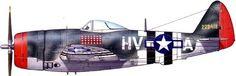 P-47D-26-RА Фрэнсиса Габрески. Нормандия 1944.