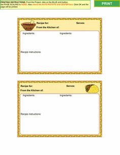cooking collection 1 recipe card templates for ms word - Free Editable Recipe Card Templates For Microsoft Word
