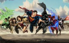 My rendering of the DC Extended Universe Justice League (including GL) in the style of Ivan Reis. Superman, Batman, and Wonder Woman are from 'DC Universe Rebirth.' Aquaman from the cover of 'Brigh. Arte Dc Comics, Dc Comics Superheroes, Dc Comics Characters, Fun Comics, Marvel Comics, Marvel Vs, Aquaman, Superman Wonder Woman, Justice League Superheroes