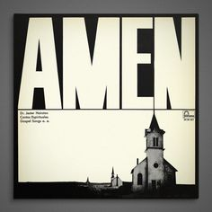 Record sleeve design for Amen, Dr. Jester Hairston, Cantos Espirituales Gospel Songs o. a. via Yimmy Yayo