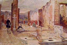 Giacinto Gigante  Cornelio Rufo's House in Pompeii 1862