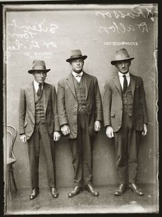 Fashion: Men's Fashion of the 1920's included Styled Trousers, Suits and Ties.
