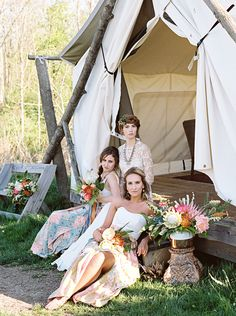 Tent wedding inspiration Glamping meets boho in this Firelights Camp wedding inspiration styled shoot.