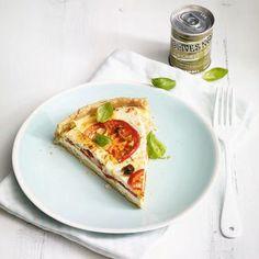 Tomatenquiche mit Feta