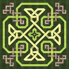 green celtic knot quilt                                                                                                                                                     More