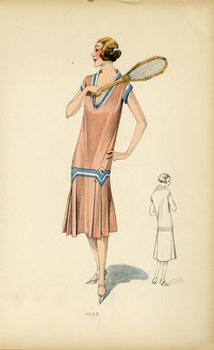 Kittyinva: 1926 tennis dress from unidentified designer. From April Calahan's Material Mode.