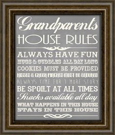 Christmas Gifts For Grandparents  Gifts From by iNKYSQUIDSTUDIO, $13.00