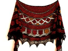 Ravelry: Lotus Crescent pattern by Kieran Foley--multi colored lace, it is possible! Crochet Shirt, Crochet Poncho, Knitted Shawls, Crochet Vests, Crochet Edgings, Tunisian Crochet, Crochet Motif, Knitting Club, Lace Knitting