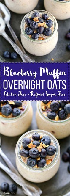 These Blueberry Muffin Overnight Oats come together in five minutes so breakfast will be ready right when you wake up! This easy overnight oat recipe tastes like blueberry muffins and can be served cool or warm.
