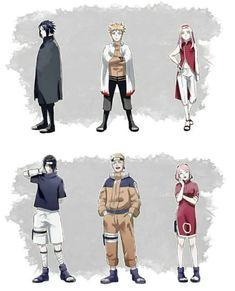 (tell me if you know who made this so i can give the credits they deserve) 💕 ⠀⠀⠀⠀⠀⠀⠀⠀⠀… Anime Naruto, Naruto E Boruto, Naruto Fan Art, Naruto Cute, Kakashi, Anime Manga, Narusaku, Naruto Team 7, Naruto Family
