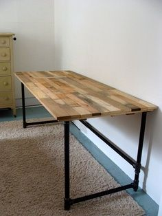 Pipeing Desk Reclaimed White Cedar Desks With Pipe Ing Frame