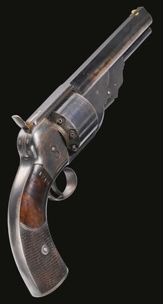 Unmarked 8-Shot Navy Revolver, No Serial Number, circa 1860.