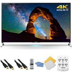 Sony XBR-65X900C - 65-inch 4K Ultra HD 3D Smart LED TV   Hookup Kit Deal