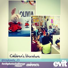 Congratulations to Ashlee for winning this week's #evitphotochallenge on Instagram! One of the most important tools in EVIT Early Childhood is children's literature. Her prize will be delivered to your class this afternoon.  http://instagram.com/p/dzb24pOvnN/
