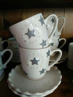 Have a perfect day bastion collection senseo mug tasse mit süßer Untertasse Star grey zu kaufen im calluna cottage Hermannsburg bastion collection