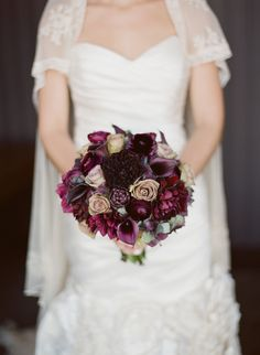 Aubergine Winter Bouquet.