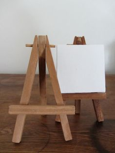 Mini Wooden Tabletop Easels