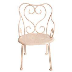 Chaise de poupée Romantic Chair en fer forgé rose Maileg