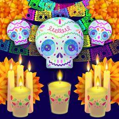 Vectores gratis para el día de muertos por Carlos Lerma