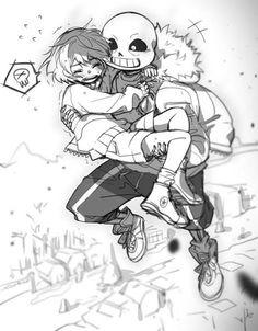 Sans and Frisk Undertale Undertale Ships, Undertale Cute, Undertale Fanart, Undertale Comic, Sans X Frisk Comic, Sans Frisk, Alien Drawings, Anime Couples Drawings, Sans Undertale Wallpaper